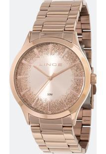 Kit Relógio Feminino Lince Lrr4593L Ki25R1Rx Analógico 5Atm + Pulseira