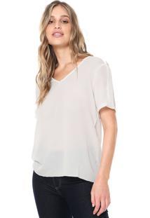 Blusa Ana Hickmann Decote V Off-White