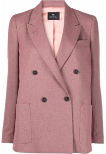 Ps Paul Smith Blazer Com Abotoamento Duplo - Rosa