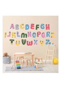 Adesivo De Parede Infantil Alfabeto Kids