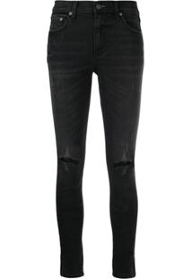 Boyish Denim The Riley Skinny Jeans - Preto