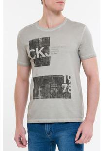 Camiseta Ckj Mc Est Ckj 1978 - Cinza Claro - Pp