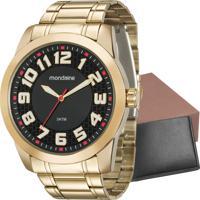 Kit Relógio Mondaine Masculino Com Carteira 99130Gpmvde3K1 696cedc7b2