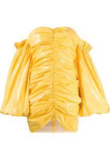 Rotate Vestido Tomara-Que-Caia Phoebe - Amarelo