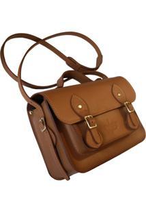 Bolsa Line Store Leather Satchel Mini Couro Premium Savannah.