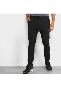 Calça Redley Confort Sarja Cordão Masculina - Masculino-Preto