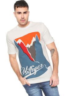Camiseta Tommy Hilfiger Mountain Branca