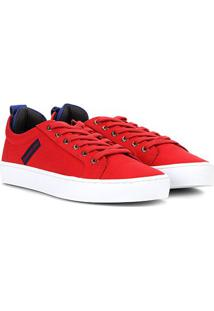 Tênis Calvin Klein Lona Skate Masculino - Masculino-Vermelho