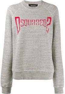 Dsquared2 Suéter Com Estampa De Logo - Cinza