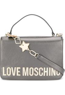 Love Moschino Bolsa Tote Com Logo - Cinza