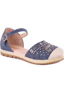 Sandália Klassipé Espadrille Folk - Feminino-Jeans