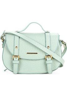 Bolsa Couro Colcci Mini Bag Floater Fivelas Feminina - Feminino-Verde Claro