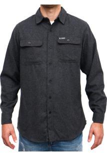 Camisa Blanks Co Flanela 8200 Charcoal Masculina - Masculino-Chumbo