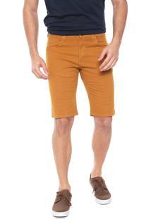 Bermuda Sarja Wrangler Slim Color Amarela