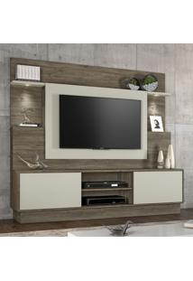 Estante Para Tv Até 55 Polegadas 2 Portas Accord Canela/Areia - Notavel