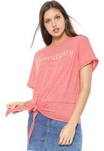 Blusa Colcci Serendipity Vermelha - Vermelho - Feminino - Algodã£O - Dafiti