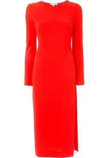 Layeur Blusa Com Fenda Lateral - Vermelho