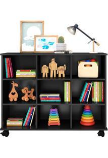 Nicho Organizador Multifuncional Com Rodízios Toys Q01 Preto - Mpozena