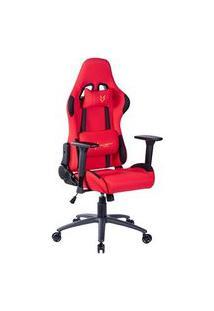Cadeira Gamer Husky Gaming Racing, Vermelho, Com Almofadas, Reclinável, Descanso De Braço 3D - Hrc-R