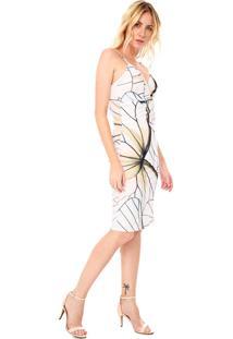 Vestido Lanã§A Perfume Midi Torã§Ã£O Branco - Branco - Feminino - Poliã©Ster - Dafiti
