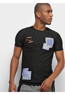 Camiseta Eagle Rock Básica Masculina - Masculino-Preto
