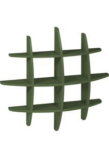 Prateleira Decorativa Média Taylor 598 Verde Musgo - Maxima