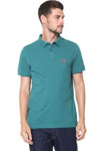 Camisa Polo Mr Kitsch Reta Logo Verde