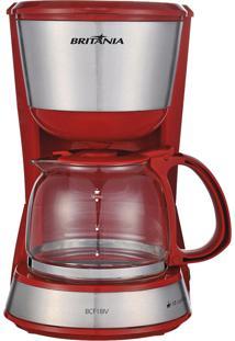 Cafeteira Elétrica Britânia Bcf18Iv Plus 550W 18 Cafés Vermelho/Inox