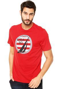 Camiseta Nautica Classic Fit Vermelha
