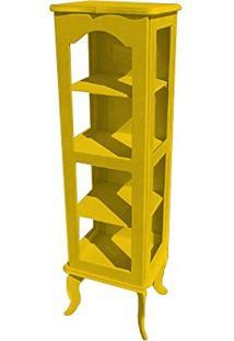 Cristaleira Colonial 1 Porta Atz122 - Amarela