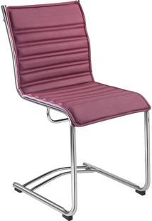 Cadeira Office Secretária Com Base Fixa Havenna Movelfar - Pvc Rubi Seda - Multistock