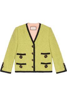 Gucci Jaqueta Tweed - Verde