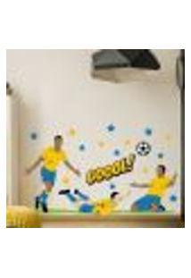Adesivo De Parede Quarto Menino Futebol Gol