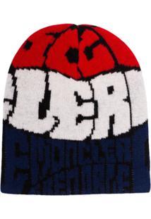 Moncler Grenoble Gorro De Tricô Com Logo - Azul