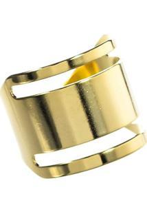 Anel Dourado Any - Feminino-Dourado