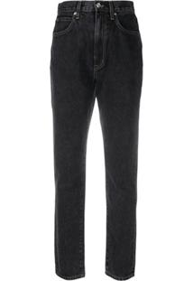Slvrlake Calça Jeans Cropped Beatnik - Preto