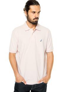 Camisa Polo Nautica Reta Rosa