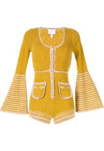 Alice Mccall Heaven Help Knitted Playsuit - Amarelo
