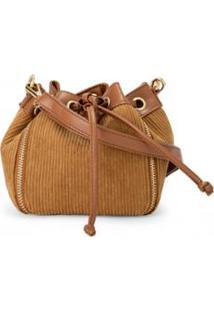 Bolsa Amaro Mini Bucket Veludo Zíper Feminina - Feminino