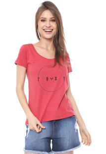 Camiseta Roxy All Ok Vermelha