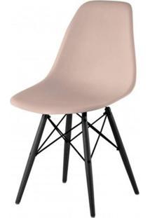 Cadeira Com Encosto E Pés Em Madeira Flórida Siena Móveis Fendi