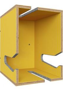 Nicho Inteligente De Parede Easy Be Mobiliário Amarelo