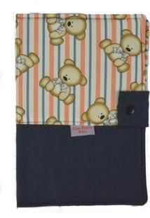 Capa Para Cartão De Vacinação - Alan Pierre Baby - Ursinho Azul Marinho