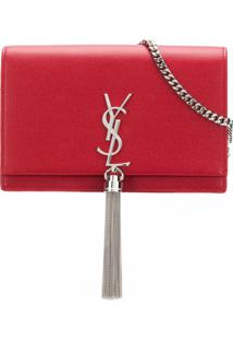 Saint Laurent Bolsa Tiracolo 'Kate' Pequena - Vermelho