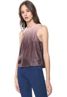Regata Calvin Klein Jeans Veludo Degradê Marrom