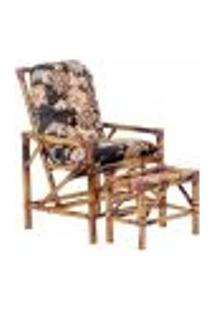 Conjunto Mesa E Cadeira De Bambu Cancun Para Área Edicula Jardim G22