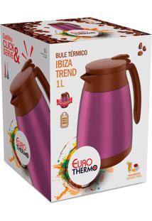 Bule Termico Ibiza Trend 1 Litro Rosa Euro Home