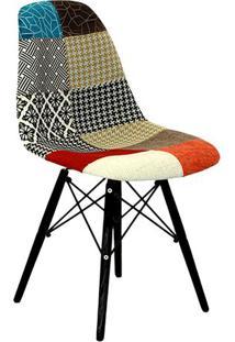 Cadeira Eames Dkr- Vermelha & Preta- 80,5X46,5X42Cm