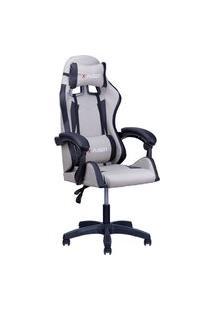 Cadeira Gamer Home Office Cinza Com Preto