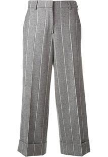 Thom Browne Calça Listrada - Cinza